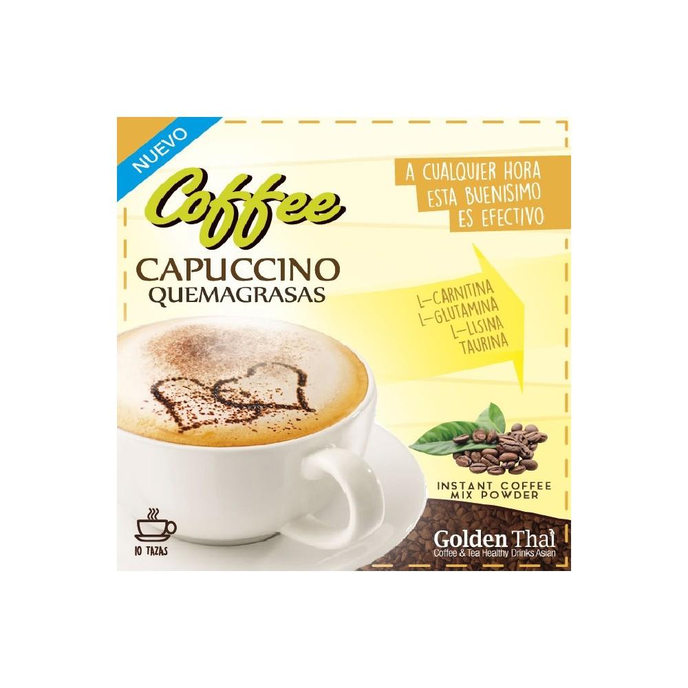 Golden Thai Coffee Quema-Grasas CAPUCCINO Golden Thai  Coffe & Tea Healthy Drink Asian  Quemagrasas y similares salud.bio