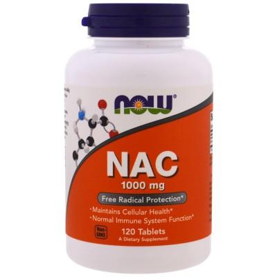 NAC, 1000 mg, 120 Tabletas de Now Foods now suplementos NOW-00185 Complementos Alimenticios (Suplementos nutricionales) salud...