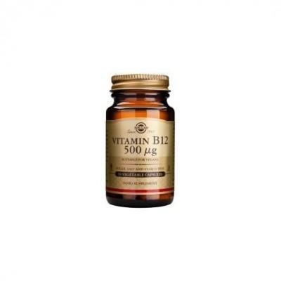 Vitamina B12  500 mcg. (Cianocobalamina) 50 Cápsulas Vegetales