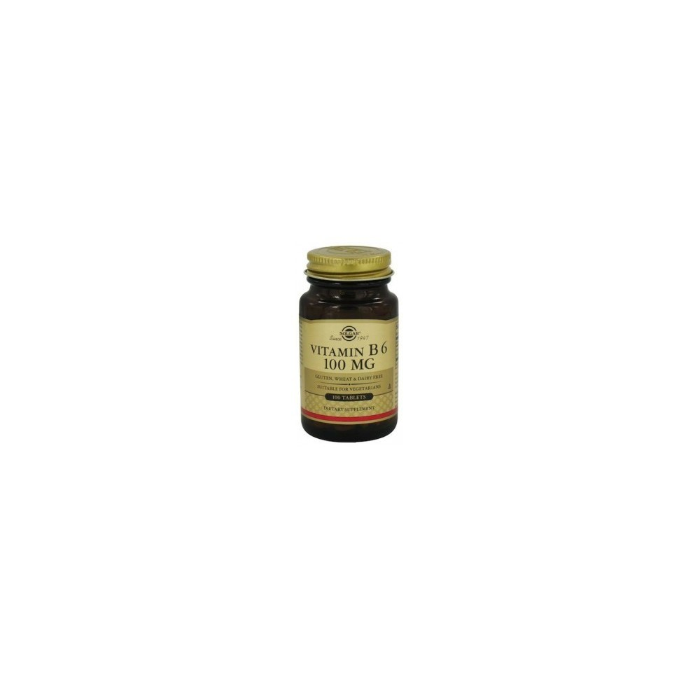 Vitamina B6 (Piridoxina) 100 mg de Solgar (100 Cápsulas Vegetales) SOLGAR 053110 Inicio salud.bio