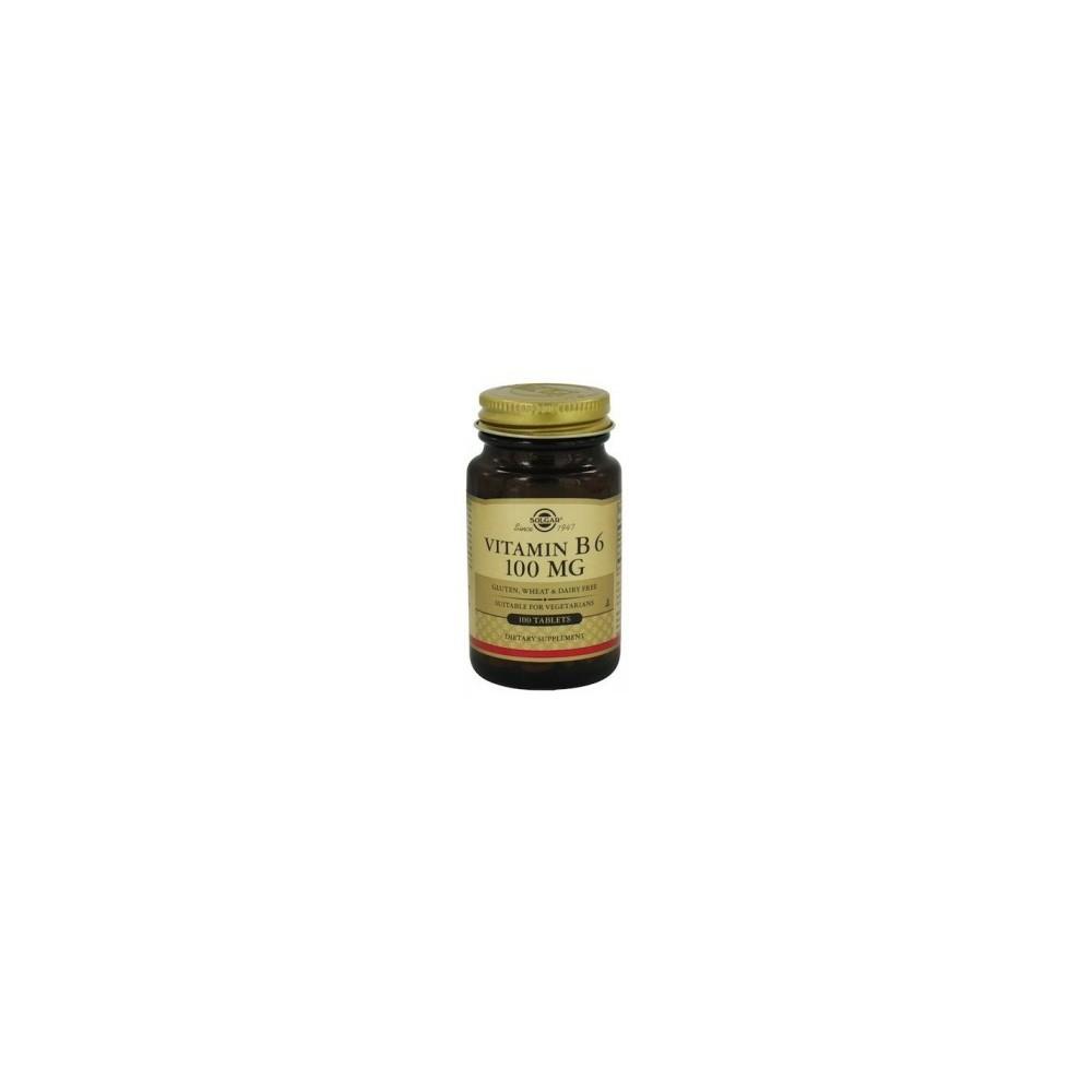 Vitamina B6  100 mg  100 Cápsulas Vegetales