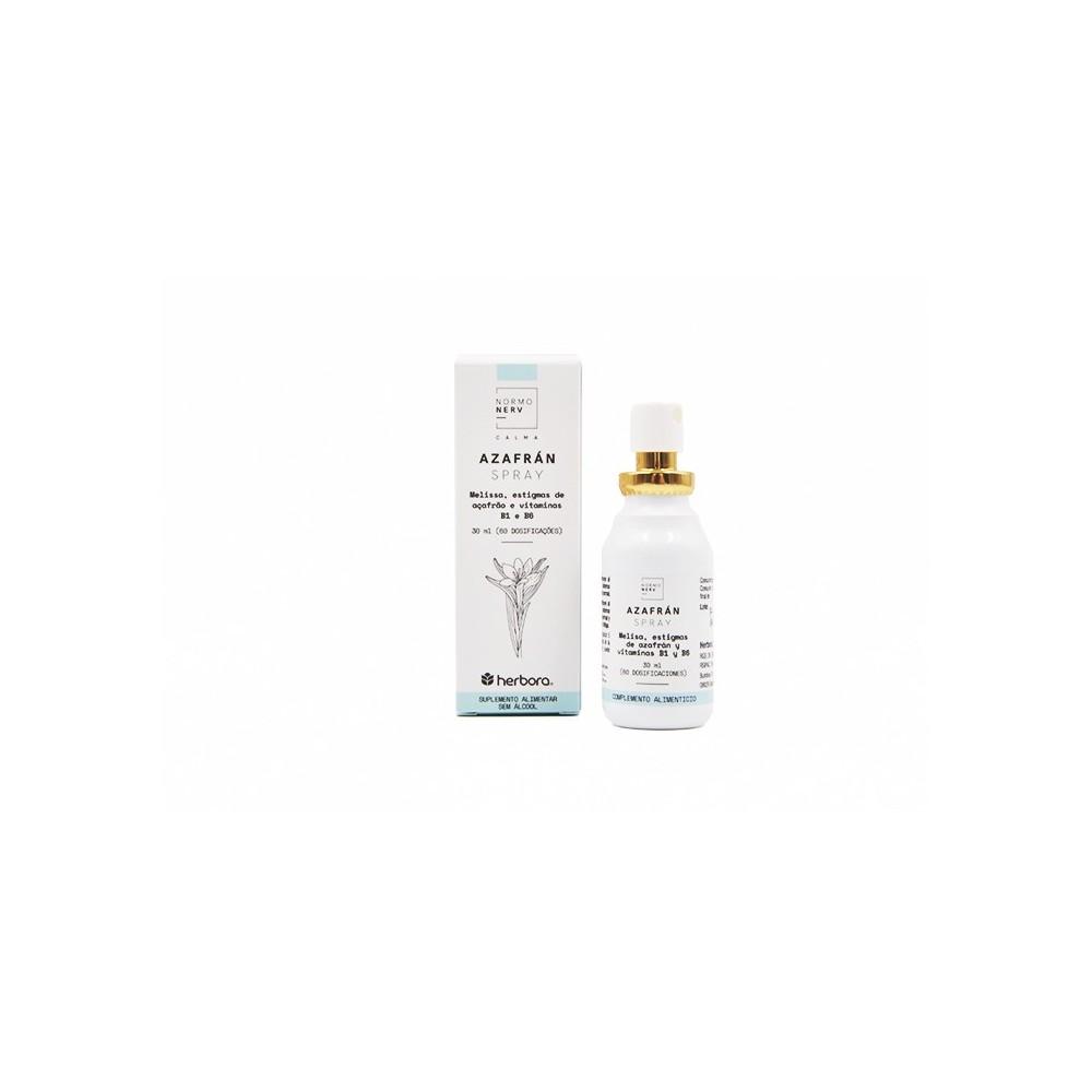 Azafrán Spray de Herbora Herbora H14101 Estados emocionales, ansiedad, estrés, depresión, relax salud.bio
