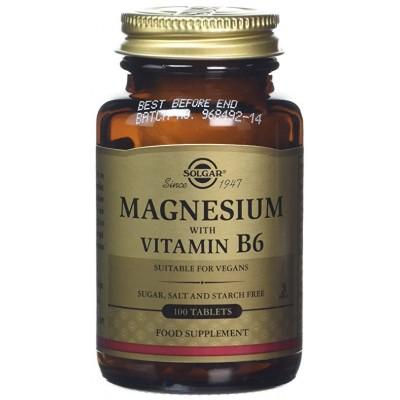 Magnesio con Vitamina B6 de Solgar SOLGAR  Suplementos Minerales  salud.bio