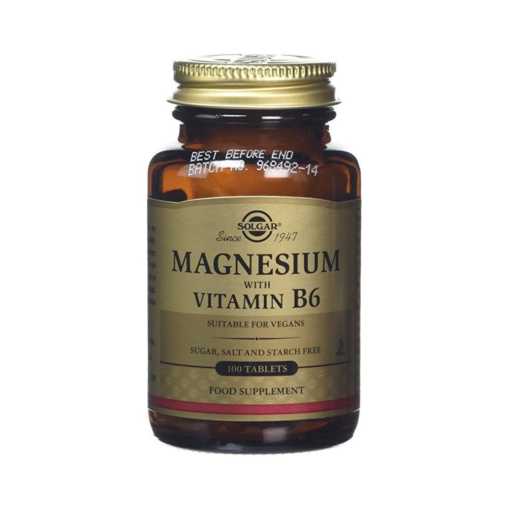 Magnesio con Vitamina 6   de Solgar