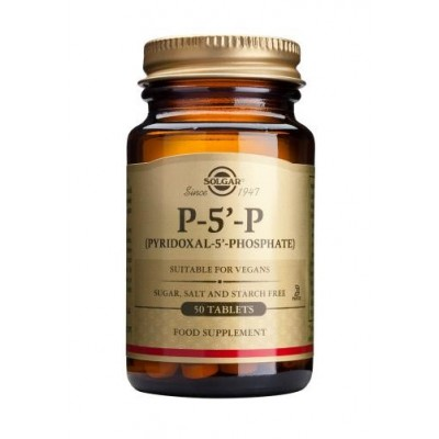Piroxidal - 5 - Fosfato  (P- 5´-P)  50mg  50 Comprimidos de Solgar