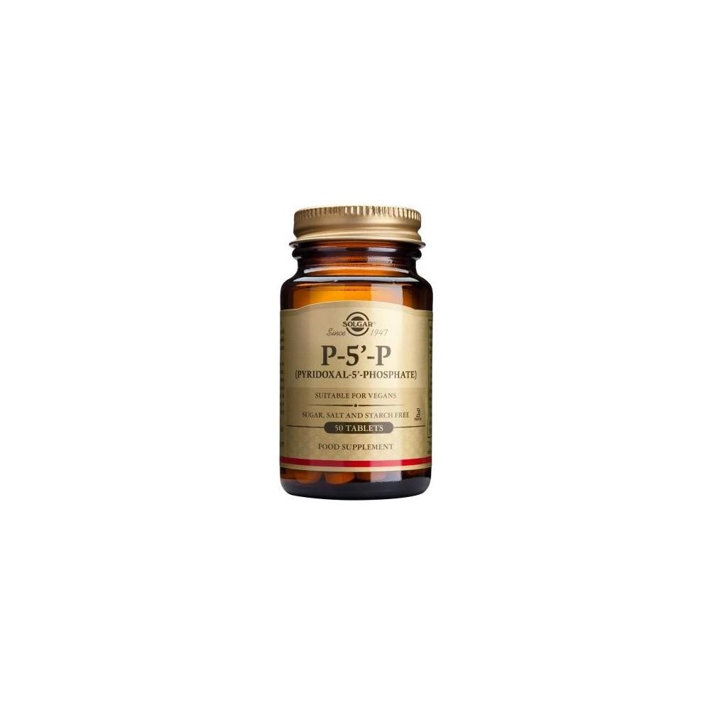 P-5'- P (Piridoxal- 5´- Fosfato) 50 mg Comprimidos de Solgar SOLGAR 052307 Inicio salud.bio