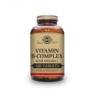 Vitaminas B Complex con Vitamina C, en comprimidos de Solgar SOLGAR  Vitamina B salud.bio