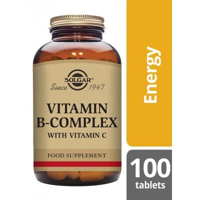 Vitaminas B Complex con Vitamina C, en comprimidos de Solgar SOLGAR  Inicio salud.bio
