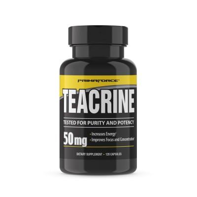 Teacrine 50mg. 120 cápsulas de Primaforce PrimaForce  Termogénicos, Energético (Activadores Metabólicos) salud.bio