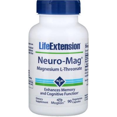 Neuro-Mag, L-Treonato de magnesio, 90 cápsulas vegetarianas de Life Extension LifeExtension LEX-16039 Suplementos Minerales  ...