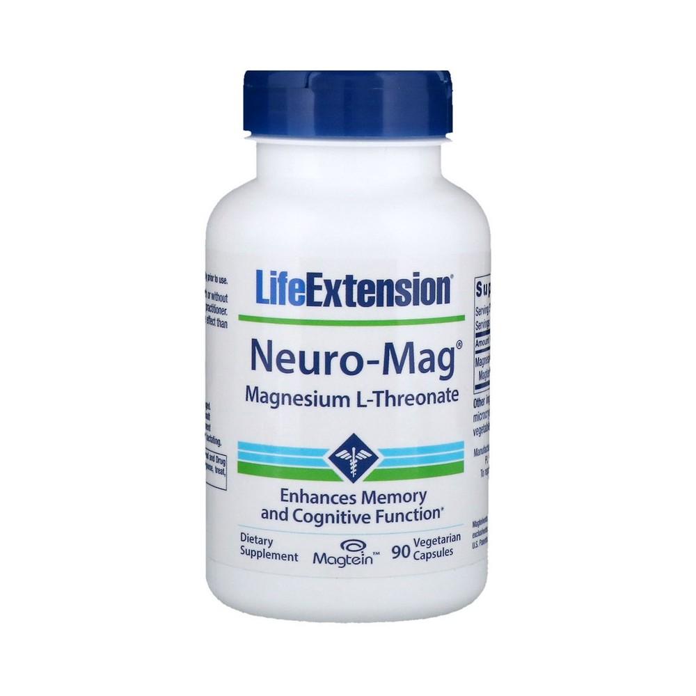 Neuro-Mag, L-Treonato de magnesio, 90 cápsulas vegetarianas de Life Extension LifeExtension LEX-16039 Memoria salud.bio