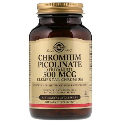 Picolinato Cromo 500mcg. 120 cápsulas de Solgar SOLGAR SOL-00872 Ayuda Glucemia y Diabetes salud.bio