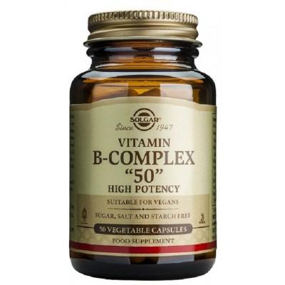 """Vitamina B-Complex  """"50"""" en 50 Cápsulas de Solgar"""