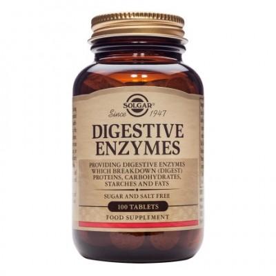 Enzimas Digestivas 100 comprimidos de Solgar SOLGAR 121000 Ayudas aparato Digestivo salud.bio