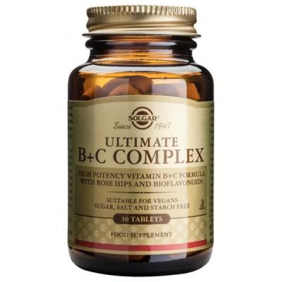 Ultimate B+C Complex 30 comprimidos de Solgar SOLGAR 062770 Inicio salud.bio