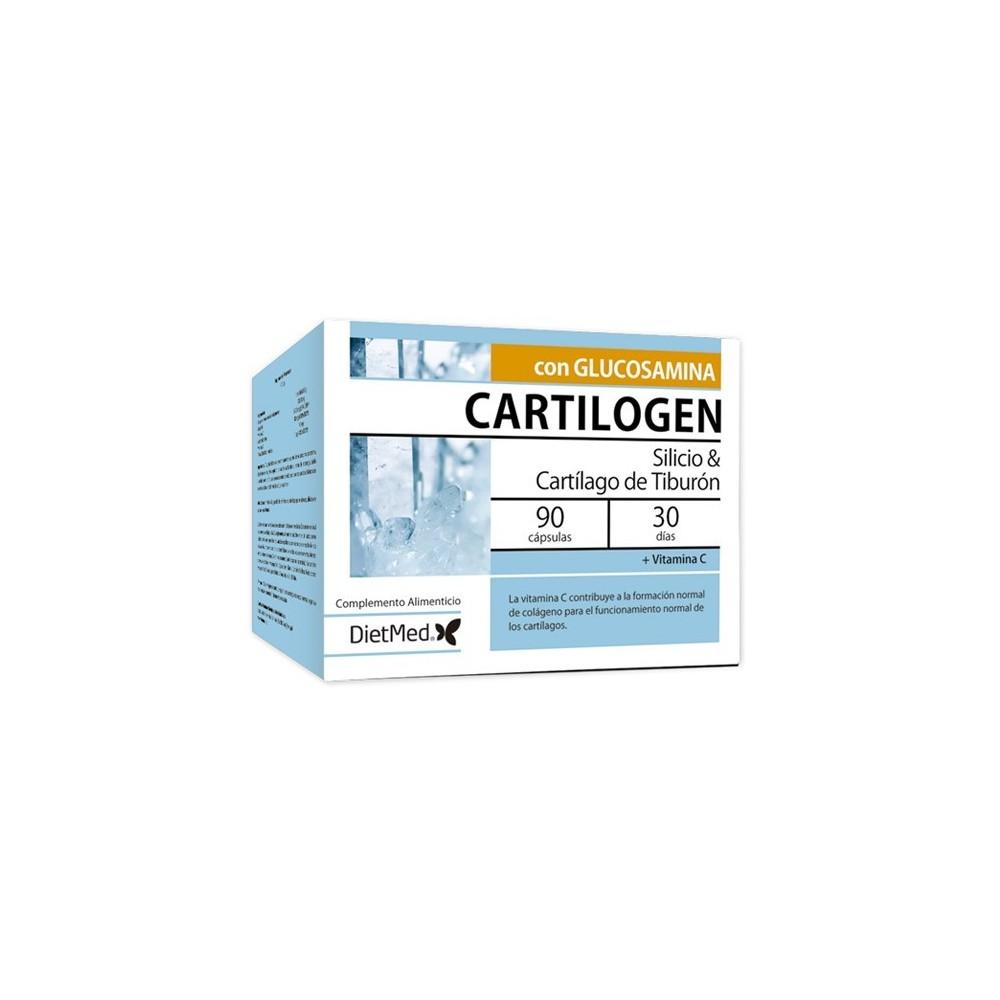 Cartilogen con Cartílago de Tiburón y Silicio  90 cápsulas  DietMed