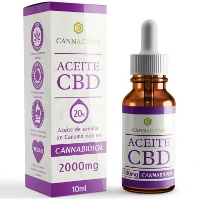 Aceite de Cañamo 20% CBD 10 ml de Cannactiva Cannactiva Aceite 20% 10ml Plantas Medicinales salud.bio