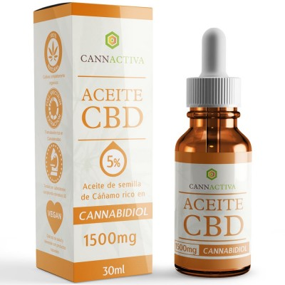 Aceite de Cañamo 5% CBD 30 ml de Cannactiva Cannactiva Aceite 5% 30ml Plantas Medicinales salud.bio