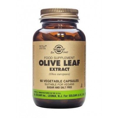 Olive Leaf  (Extracto de hoja de Olivo)  60 cápsulas Solgar