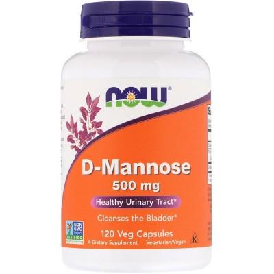 D-Manosa, 500 mg, 120 cápsulas vegetarianas de Now Foods