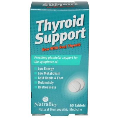 Soporte para la Glándula Tiroide, 60 Tabletas de NatraBio NatraBio NBB-00260 Tiroides salud.bio