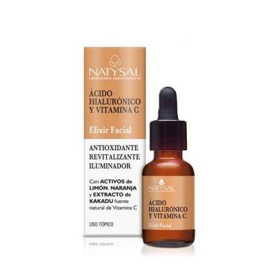 Elixir facial de Ácido Hialurónico y Vitamina C 15 ml de Natysal