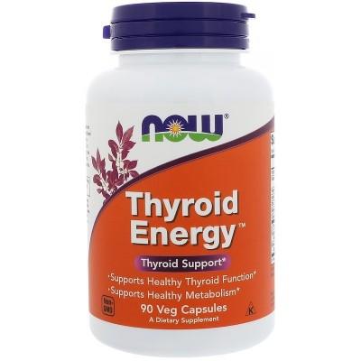 Energia tiroidea, cápsulas vegetales de Now Foods now suplementos  Tiroides salud.bio