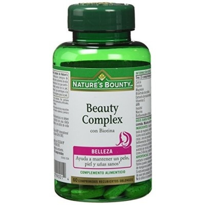 Beauty Complex con Biotina 60 Comprimidos Nature's Bounty Nature's Bounty 03598 Inicio salud.bio