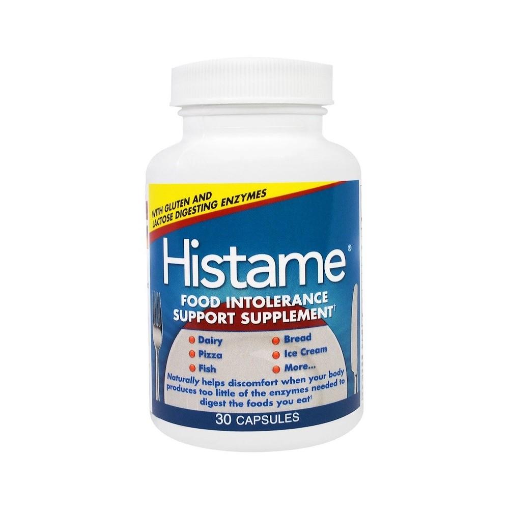 Suplemento de apoyo Histame, contra las intolerancias alimenticias, 30 cápsulas de Naturally Vitamins Naturally Vitamins NTV-...