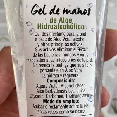 Gel de manos de Aloe Vera hidroalcohólico de Mycofit Mycofit S.L.  Uso tópico salud.bio