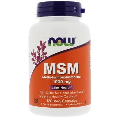 MSM, Metilsulfonilmetano, 1.000 mg, 120 cápsulas vegetales de Now Foods