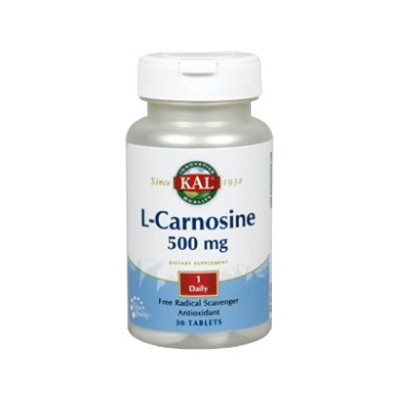 L-Carnosine 500mg 30 comp. de KAL SOLARAY  Aminoácidos salud.bio