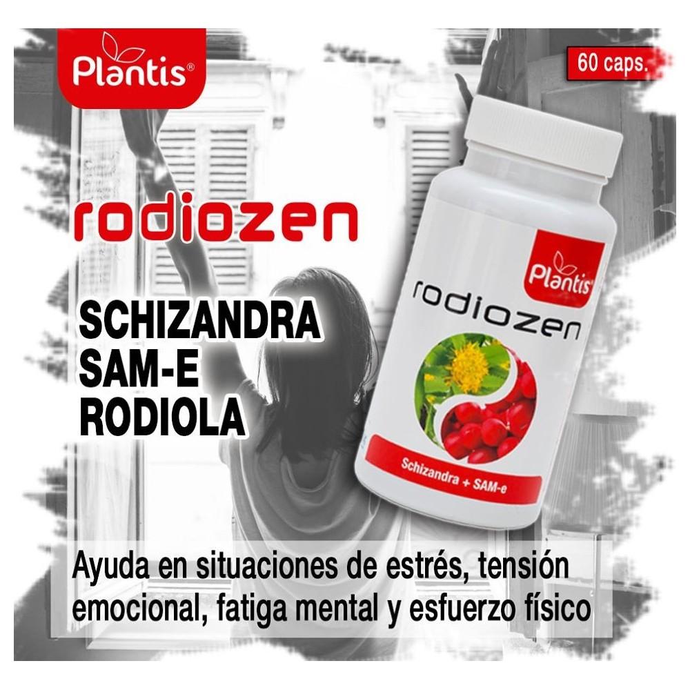 Rodiozen 60 Cápsulas de Plantis Artesania Agricola, S.A. 080152 Estados emocionales, ansiedad, estrés, depresión, relax salud...