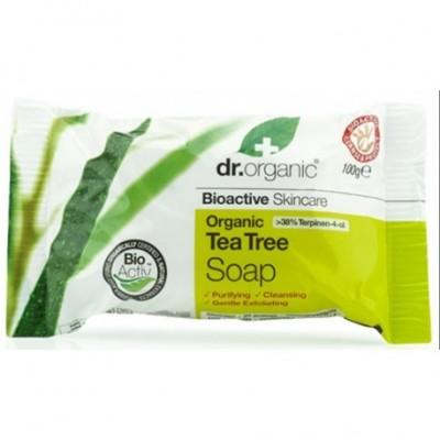Jabon En Pastilla Arbol Del Te Organico 100gr Dr Organic Doctor Organic 00496 Cuidado externo e higiene salud.bio