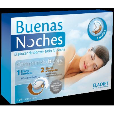 Buenas Noches 30 y 60 Comp de Eladiet ELADIET Elaborados Dieteticos, s.a. PA.SUE.BNO.17 insomnio y descanso salud.bio