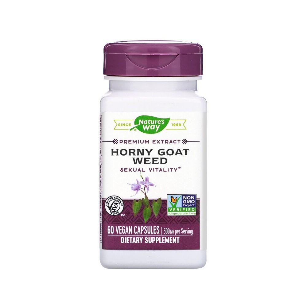 Semilla de Horny Goat, Estandarizado, 60 Cápsulas de Nature's Way Nature`s Way NWY-15311 Libido hombre y mujer salud.bio