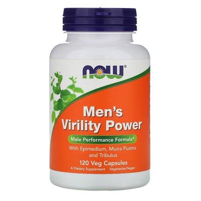 Men's Virility Power, 120 cápsulas vegetales de Now Foods now suplementos  Libido hombre y mujer salud.bio