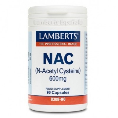 NAC N-Acetyl-L-Cysteine, 600 mg, 90 cápsulas de Lamberts Jarrow Formula 5055148411053 Higado y sistema hepatobiliar salud.bio