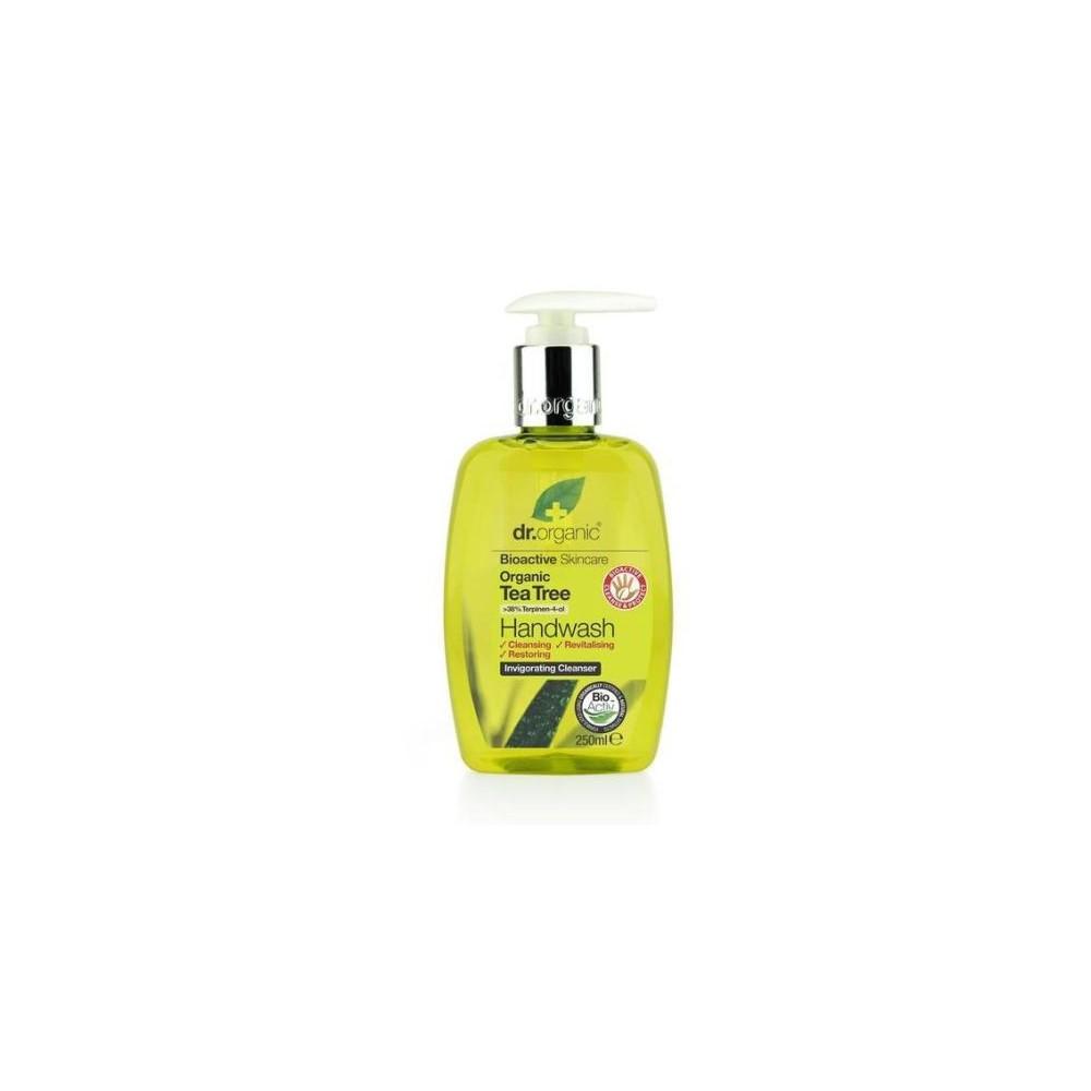 Jabon en Gel para manos Arbol Del Te Organico 250ml Dr Organic Doctor Organic DR00146 Cuidado externo e higiene salud.bio