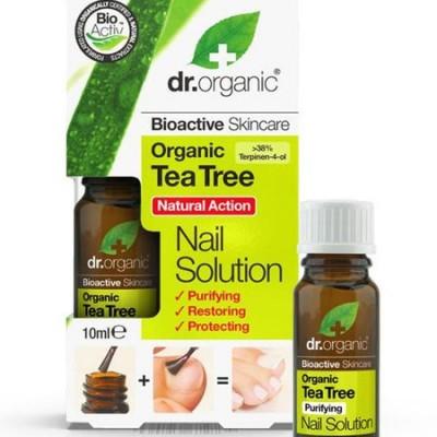 Solución para el cuidado de uñas de Arbol Del Te Organico 10ml Dr Organic Doctor Organic DR00244A Cuidado externo e higiene s...
