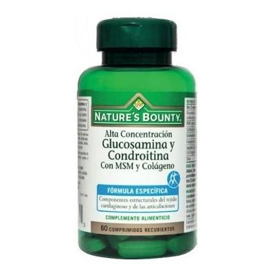 Glucosamina y Condroitina + MSM y Colágeno de Nature´s Bounty (60 Comprimidos) NATURE´S BOUNTY 03653 Inicio salud.bio