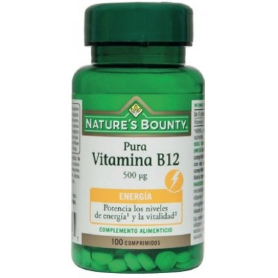 Pura Vitamina B12  500 ug  de Nature´s Bounty