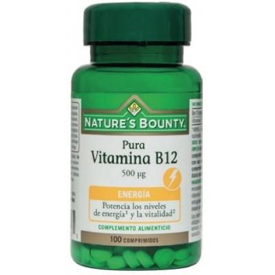 Pura Vitamina B12 de 500 μg (500 mcg) 100 Comprimidos de Nature's Bounty NATURE´S BOUNTY 03625 Inicio salud.bio