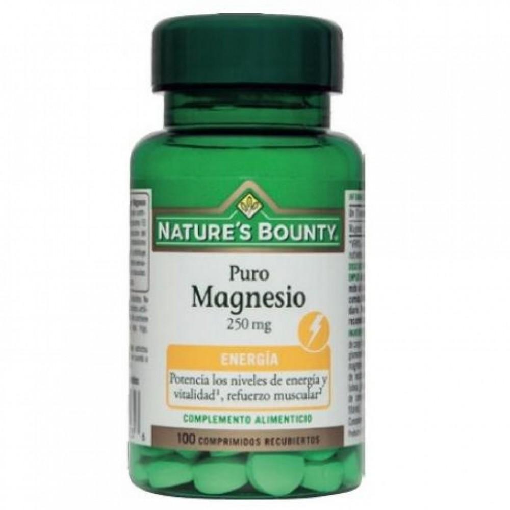 Puro Magnesio 250 mg (100 Comprimidos) de Nature's Bounty Nature's Bounty 03631 Suplementos Minerales  salud.bio