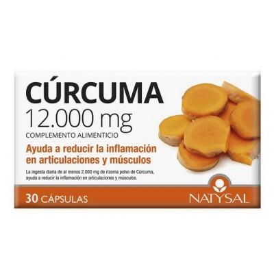 Cúrcuma 12.000mg 30 cápsulas de Natysal Natysal 13490 Suplementos Naturales acción Analgesica, Antiinflamatoria, malestar, do...