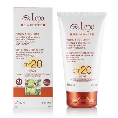 CREMA SOLARE SPF 20 con aceites de oliva, coco y aloe BIO de Lepo Lepo LEP41682 Cosmética Natural salud.bio