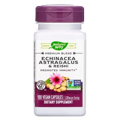Echinacea Astragalus & Reishi, 1,200 mg, 100 Vegan Capsules de Nature's Way Nature`s Way NWY-00413 Sistema inmunitario salud.bio