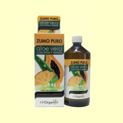 Zumo puro de Aloe Vera con Piña y Papaya 1 Litro HFOrganics Herbofarm HO HO101 Zumos salud.bio