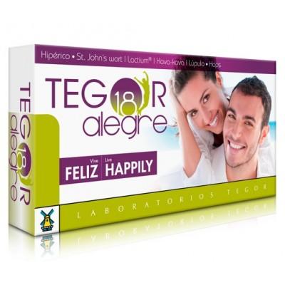 Tegor 18 Alegre 40 Cápsulas de Tegor lab SOLGAR 8429007046415 Estados emocionales, ansiedad, estrés, depresión, relax salud.bio