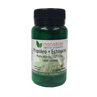 Propóleo y Echinacea 36 Comprimidos masticables de Manabios Manabios 111514 Sistema inmunitario salud.bio